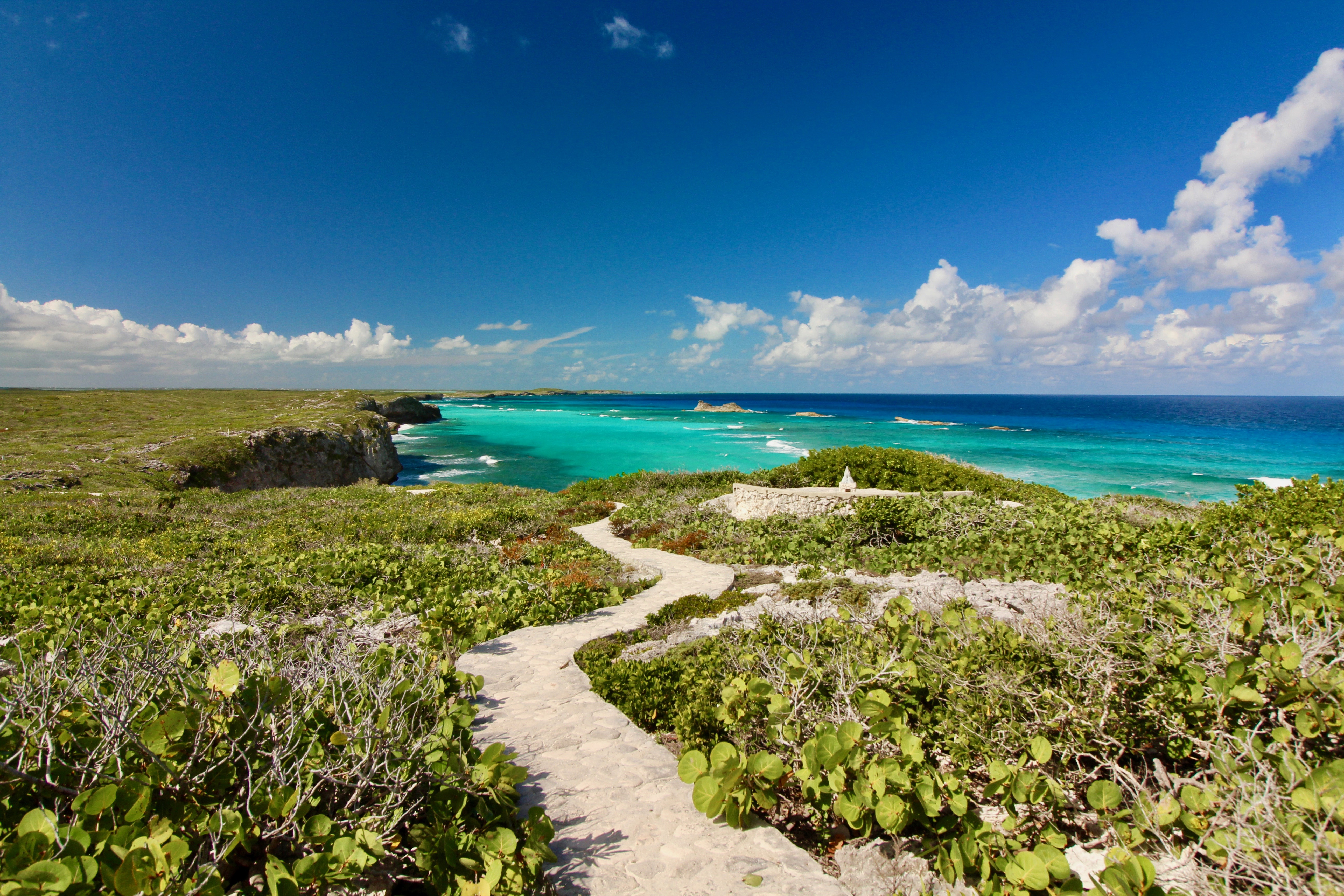 Path to hidden beach Middle Caicos